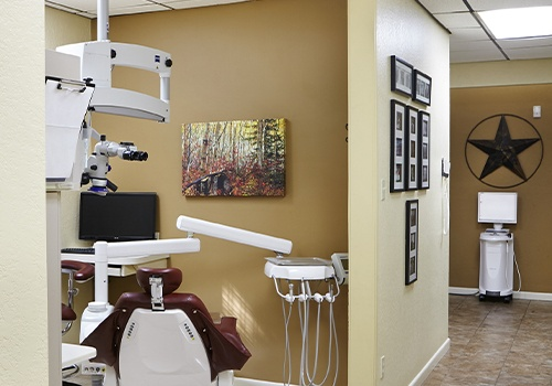 Modern dental treatment room